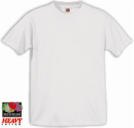 White Fruit of the Loom Heavyweight 9.3 oz. 100% Cotton T-shirts