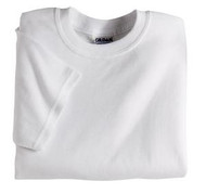 White Gildan 8000B Ultra Blend Youth T-Shirt (XXS-XL)