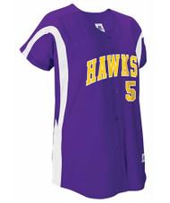 Russell 7D5VTXK Women's Faux Placket Pullover Baseball Jersey