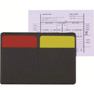 Red/yellow Referee card set with holder