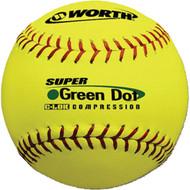 "Worth 11"" Super Green Dot COR44 (Yellow) Softball"