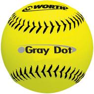 "Worth 12"" Super Grey Dot Core 40 Yellow"