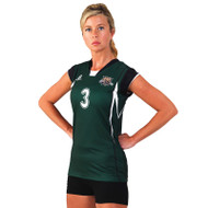 Russell Women's Cap Sleeve Sublimated Volleyball Jersey - Cut Shot