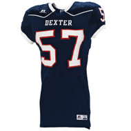Russel Stock Adult Color Block Game Jersey - Navy
