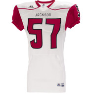 Russell Adult Stock Color Block Game Jersey - True Red