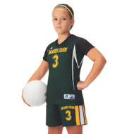 Russell Girl's Sublimated Volleyball Raglan Sleeve Jersey - Cut Shot