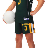 Russell Girl's Sublimated Volleyball Short - Power Stripe 1