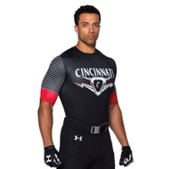 Under Armour Men's Armourfuse Compression 1/2 Sleeve Jersey - Torrent