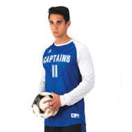 Russell Men's Sublimated Performance Long Sleeve Soccer Jersey - Vertex