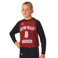 Russell Men's Sublimated Performance Long Sleeve Soccer Jersey - Base