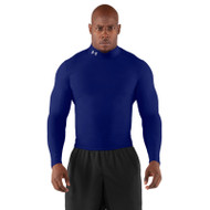 Under Armour Mens Long Sleeve Compression Mock - Royal