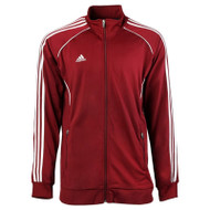 Adidas Mens Performance Basic Jacket - Maroon/White