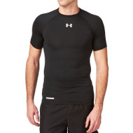 Under Armour Mens HeatGear Compression Short Sleeve T-Shirt - Black