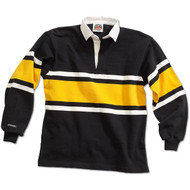 Barbarian Collegiate Design Unisex Rugby Hoodie - Black/White/Gold