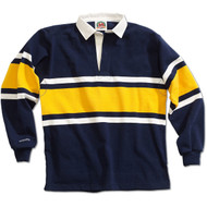 Barbarian Collegiate Design Unisex Rugby Hoodie - Navy/White/Gold