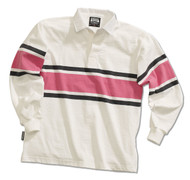 Barbarian Casual Acadia Design Unisex Shirt - White/Coal/Pink