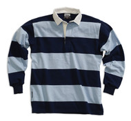 Barbarian Casual 4 Inch Stripe Design Unisex Shirt - Navy/Powder