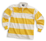Barbarian Casual 4 Inch Stripe Design Unisex Shirt - White/Yellow