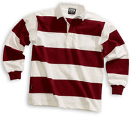 Barbarian Casual 4 Inch Stripe Design Unisex Shirt - White/Maroon