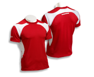 Barbarian Men's Matrix Pro-Fit Premium Rugby Jersey - Red/White