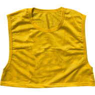 Adult Polyester mesh Football Scrimmage Vest - Adult (one size) - Yellow/Gold