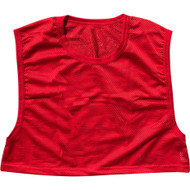 Adult Polyester mesh Football Scrimmage Vest - Adult (one size) - Red