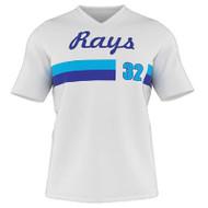 AthElite Youth Dinger Short Sleeve Baseball V-Neck Jersey (AE-BA-JSY-141)