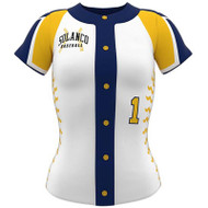 AthElite Womens Ace Short Sleeve Baseball Full Button Jersey (AE-BA-JS-127)