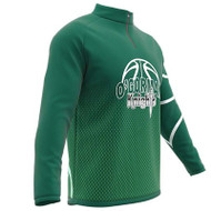 AthElite Mens Long Sleeve Universal QZ Pullovers Basketball Shooting Shirt (Core) (AW-ACS-219)