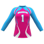 AthElite Womens Attack Long Sleeve Voolleyball Jersey (AE-VB-JS-132)
