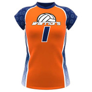 AthElite Girls Attack Cup Sleeve Voolleyball Jersey (AE-VB-JSY-130)