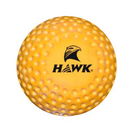 Dimpled Silver Filed Hockey Ball (Yellow) (HB02)