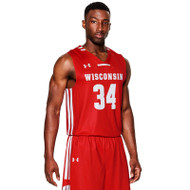 Under Armour Men's Armourfuse Primetime Basketball Jersey-Badger