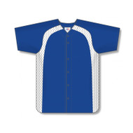 Athletic Knit Prowick Full Button Baseball Jersey with Inserts