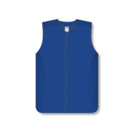Athletic Knit Durastar Mesh Sleeveless Full Button Baseball Jersey