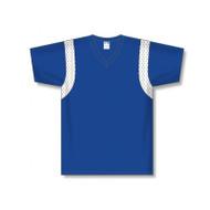 Athletic Knit V-Neck Warm Up w/Mesh Shoulder Insert Basketball Shirt