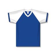 Athletic Knit Polycotton Raglan Sleeve V-Neck Soccer Jersey