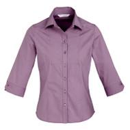 Biz Collection Women's Chevron ¾ Sleeve Shirt (FB-S122LT)