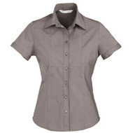 Biz Collection Women's Chevron Short Sleeve Shirt (FB-S122LS)