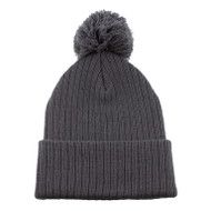 KNP Adult Acrylic Toque with Pom Beanie (KP-AC1070)