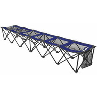 8 foot Portable Bench (holds 6 people) - Blue