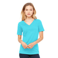 Bella + Canvas Ladies' Relaxed Jersey Short-Sleeve V-Neck T-Shirt (AS-6405)
