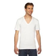 American Apparel Unisex Fine Jersey Short-Sleeve V-Neck T-Shirt (AS-2456W)