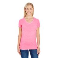 Threadfast Ladies' Triblend Short-Sleeve V-Neck T-Shirt (AS-202B)