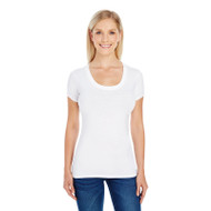 Threadfast Ladies' Spandex Short-Sleeve Scoop Neck T-Shirt (AS-220S)