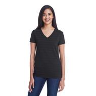 Threadfast Ladies' Invisible Stripe V-Neck T-Shirt (AS-252RV)