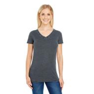 Threadfast Ladies' Vintage Dye Short-Sleeve V-Neck T-Shirt (AS-208B)