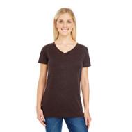 Threadfast Ladies' Cross Dye Short-Sleeve V-Neck T-Shirt (AS-215B)