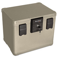 Fire and Waterproof Chest, 0.60 ft3, 16w x 12-1/2d x 13h, Taupe