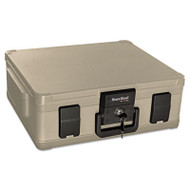 Fire and Waterproof Chest, 0.38 ft3, 19-9/10w x 17d x 7-3/10h, Taupe